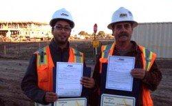 Certificates of Appreciation Awarded