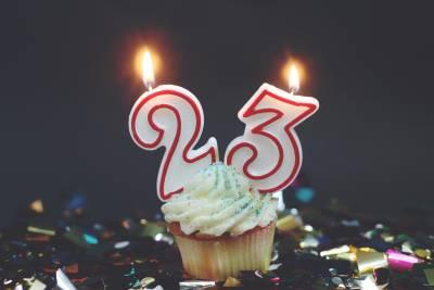 Открытка с днем рождения 23 года девушке 2