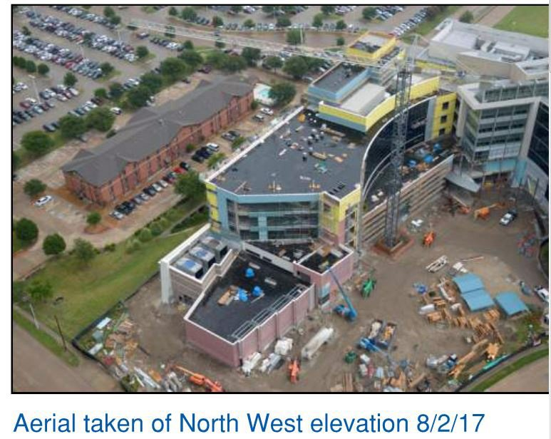Progress Shots from the Heart Hospital at Baylor Plano Project